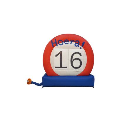HalveAbraham.nl - Opblaasbaar verkeersbord 16 jaar