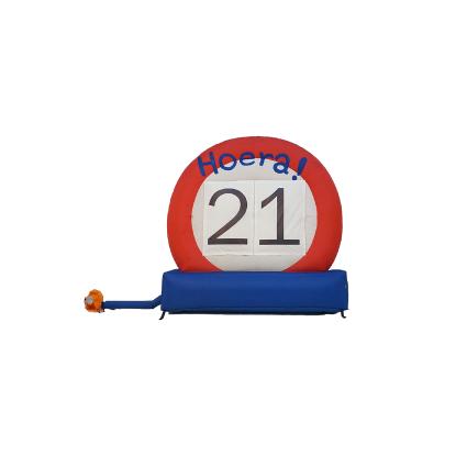 HalveAbraham.nl - Opblaasbaar verkeersbord 21 jaar