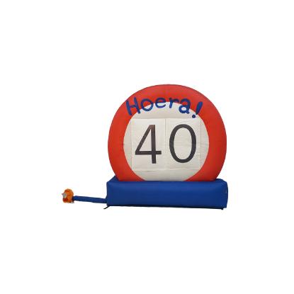 HalveAbraham.nl - Opblaasbaar verkeersbord 40 jaar