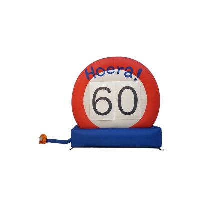 HalveAbraham.nl - Opblaasbaar verkeersbord 60 jaar