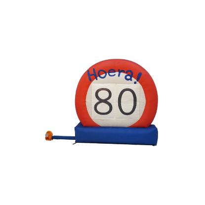 HalveAbraham.nl - Opblaasbaar verkeersbord 80 jaar