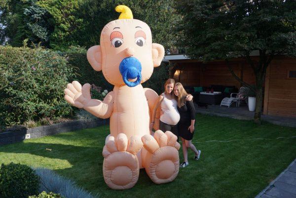 Opblaasbare Baby voor babyshower - HalveAbraham.nl