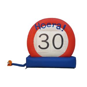 Opblaas verkeersbord 30 jaar - HalveAbraham.nl