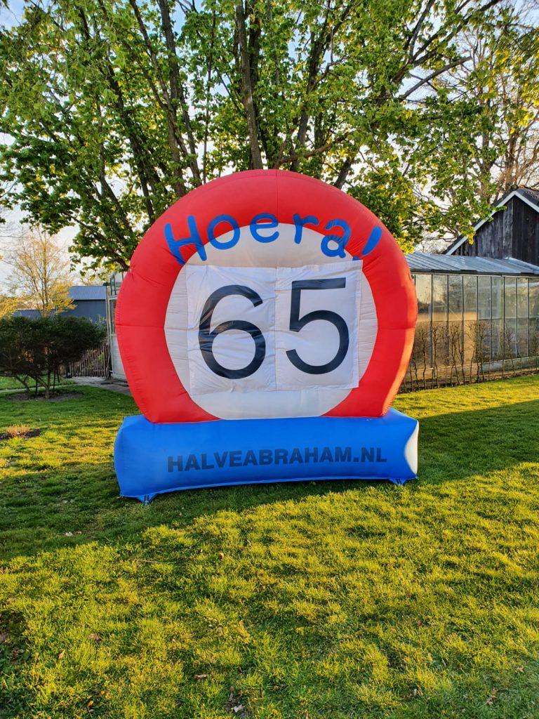 65 jaar - Opblaasbaar verkeersbord - Ambt Delden